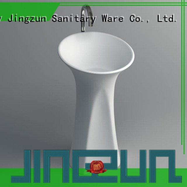 pedestal jz2001 surface JINZUN solid surface integrated bathroom sinks