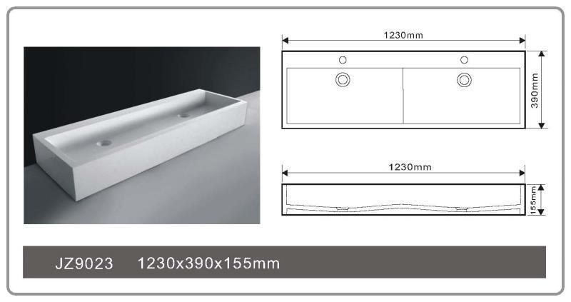 JINGZUN BATH solid surface/stone resin basin/sink JZ9023