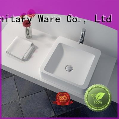 JINZUN jz9039 Solid Surface Wash Basin manufacturer for guesthouse