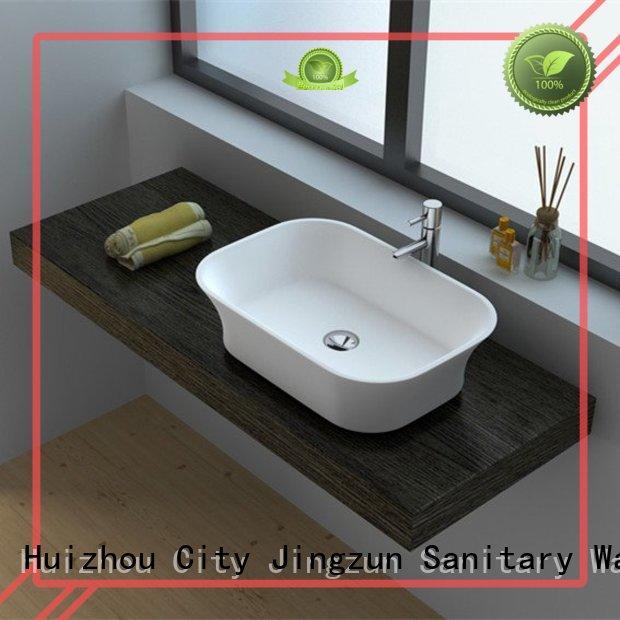 Cast Stone Solid Surface Bathroom Countertop Basin JZ9030