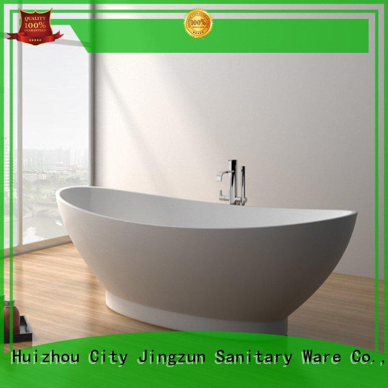 solid surface tub long jz8604 solid stone bathtub