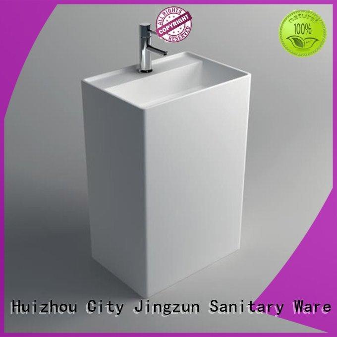 Solid Surface Pedestal Freestanding Basin JZ2004