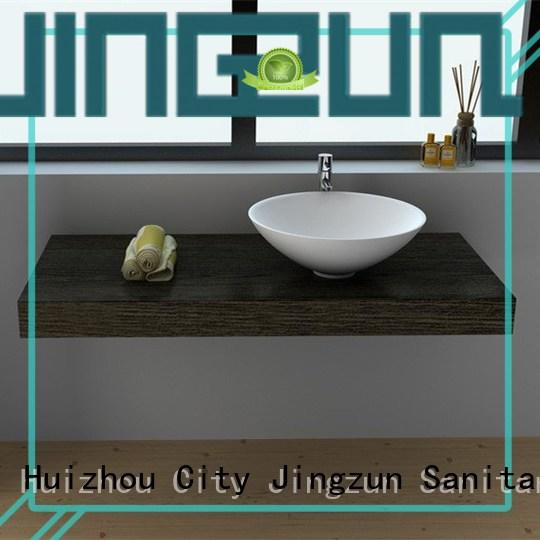 JINZUN solid Solid Surface bathroom Basin manufacturer for hotel
