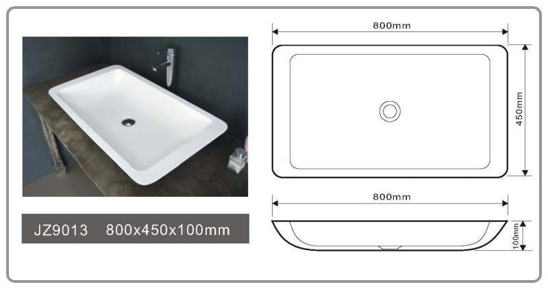 JINGZUN BATH solid surface/stone resin basin/sink JZ9013