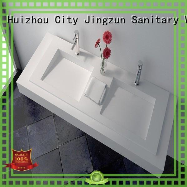 good quality solid surface integrated sink supplier for hotel