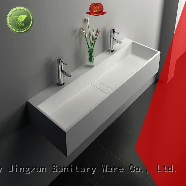 solid surface vanity sinks bathroom wall JINZUN Brand company