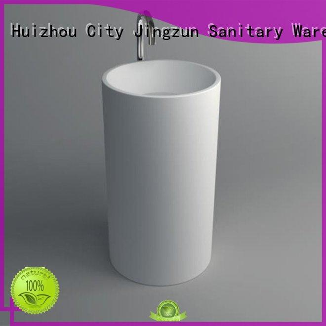 Solid Surface Pedestal Freestanding Basin JZ2011