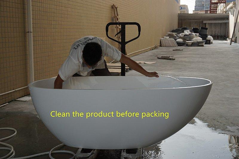 solid surface/stone resin bathtub packing